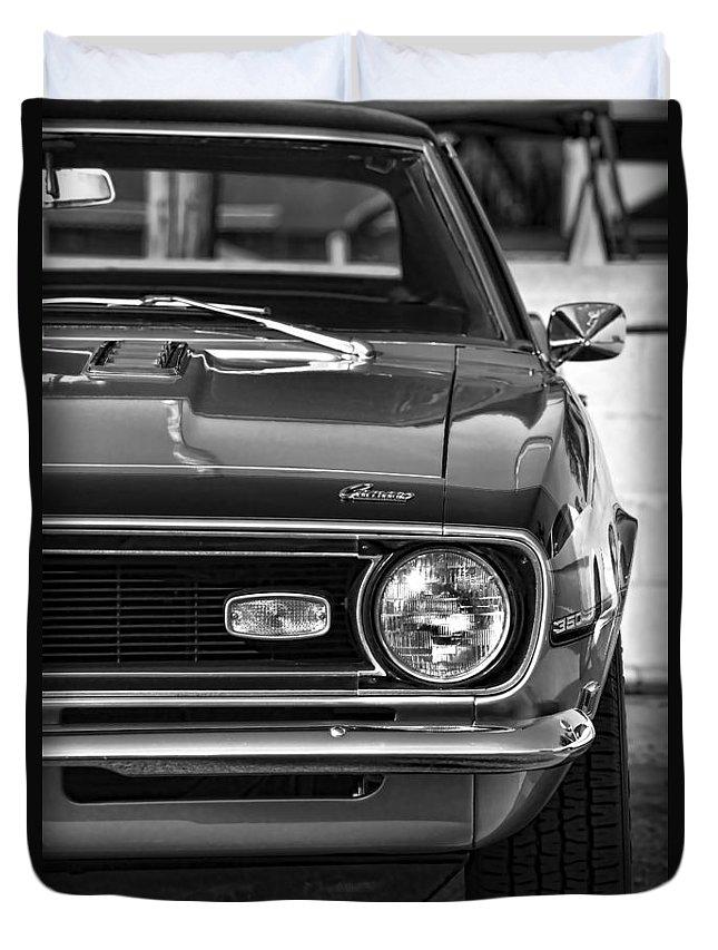 1968 Duvet Cover featuring the photograph 1968 Chevy Camaro Ss 350 by Gordon Dean II