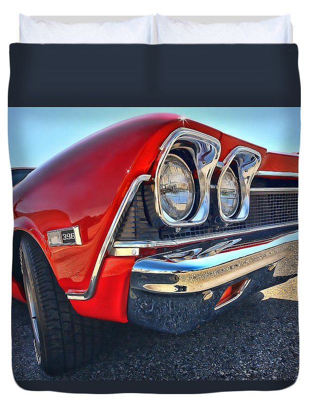 1968 Duvet Cover featuring the photograph 1968 Chevy Chevelle Ss 396 by Gordon Dean II