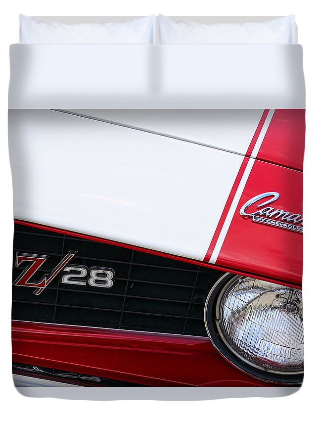 1969 Duvet Cover featuring the photograph 1969 Chevrolet Camaro Z28 by Gordon Dean II