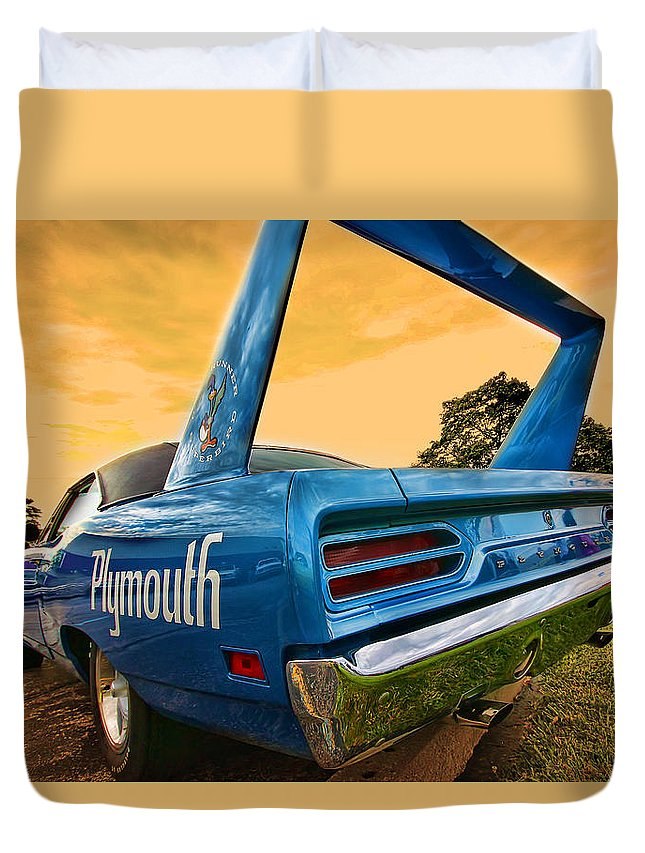 1970 Duvet Cover featuring the photograph 1970 Plymouth Road Runner Superbird by Gordon Dean II