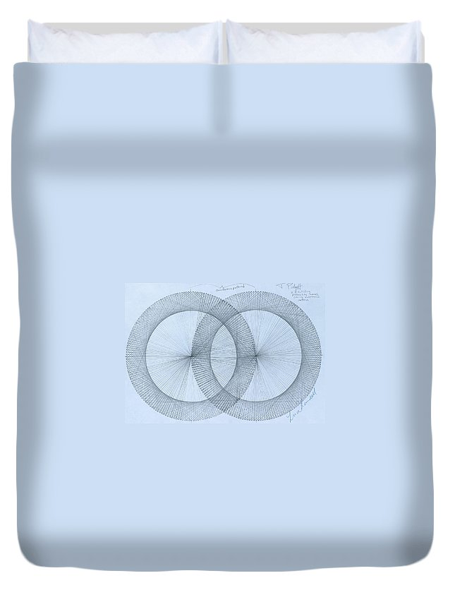 Magnet Duvet Cover featuring the drawing  Magnetism by Jason Padgett