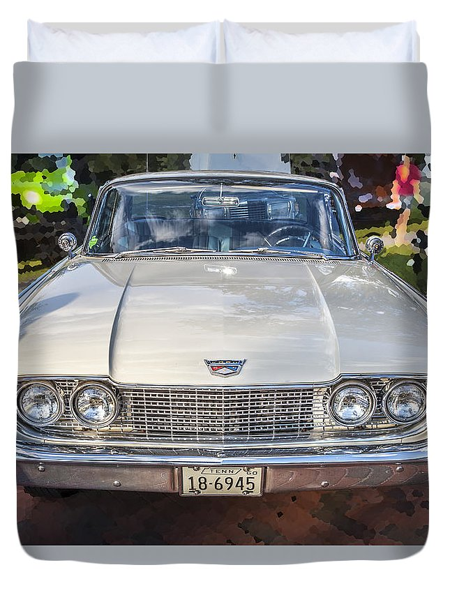 1960 Ford Starliner Duvet Cover featuring the photograph 1960 Ford Starliner by Rich Franco