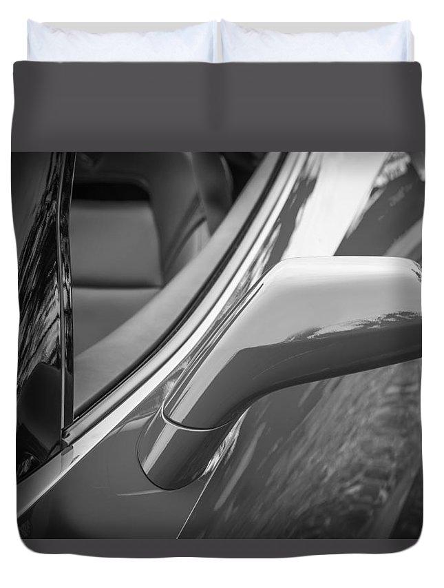 2014 Chevrolet Corvette Duvet Cover featuring the photograph 2014 Chevrolet Corvette C7 Bw  by Rich Franco