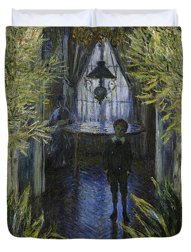 Claude Duvet Cover featuring the painting A Corner Of The Apartment by Claude Monet