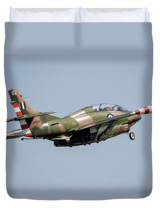 Greece Duvet Cover featuring the photograph A T-2e Buckeye Trainer Aircraft by Timm Ziegenthaler