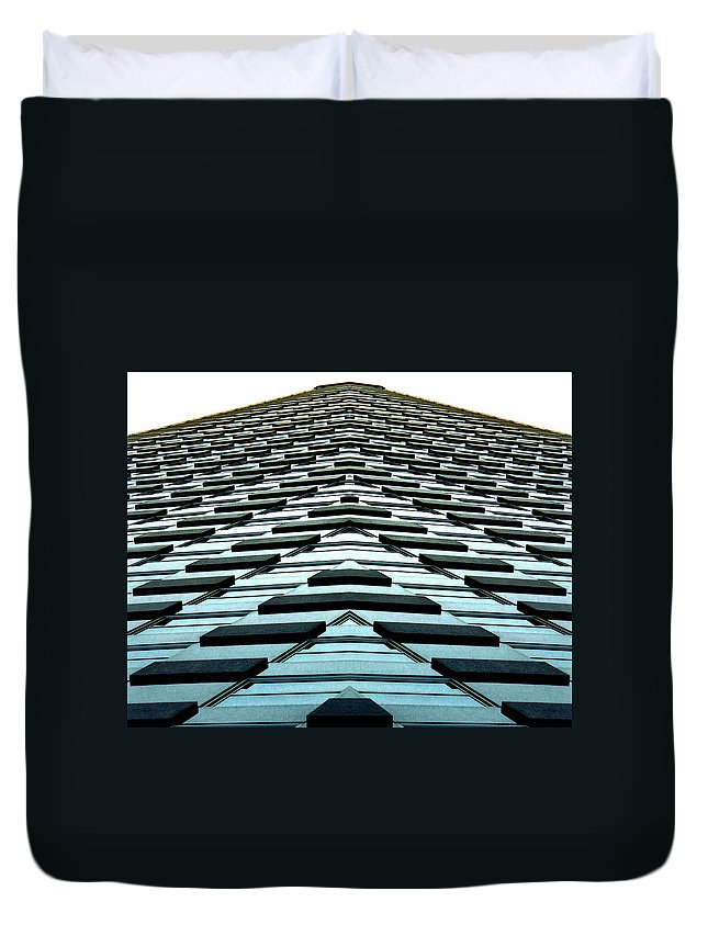 Original Duvet Cover featuring the photograph Abstract Buildings 1 by J D Owen