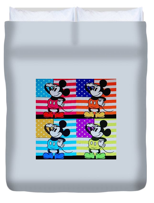 Mickey Mouse Duvet Cover featuring the photograph American Mickey by Rob Hans