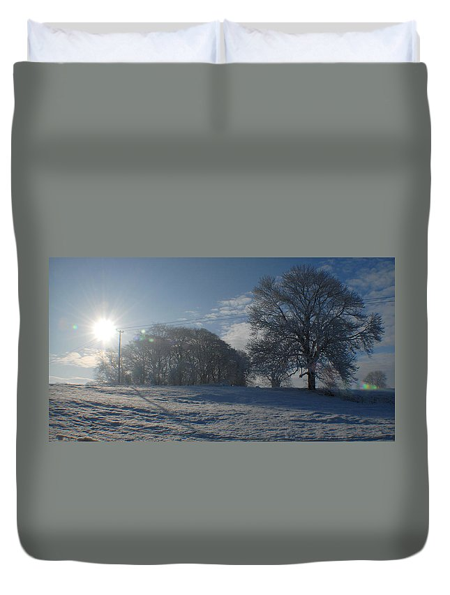 Irish Photography Duvet Cover featuring the photograph An Irish Winter Scene by Dave Byrne