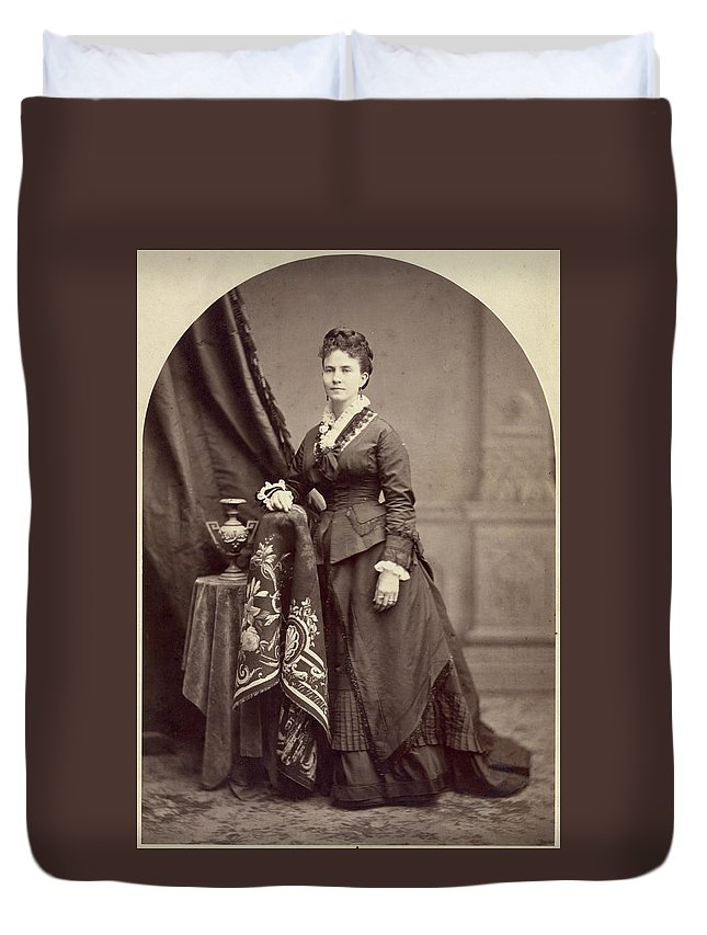 1875 Duvet Cover featuring the photograph Ann Eliza Young (1844-1925) by Granger