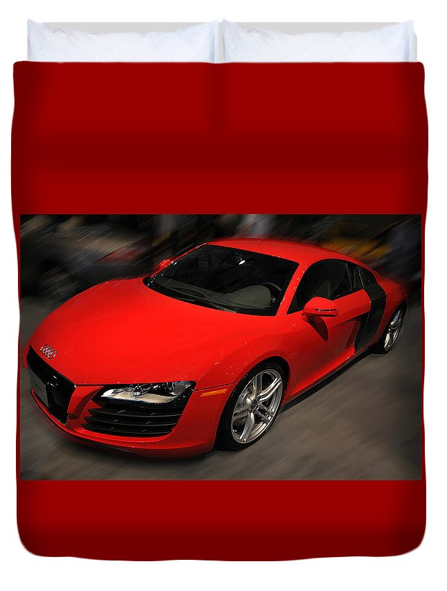 Photo Duvet Cover featuring the photograph Audi R8 by Dragan Kudjerski