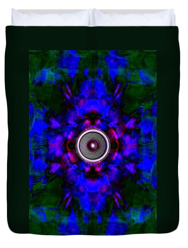 Festival Duvet Cover featuring the digital art Audio Kaleidoscope by Steve Ball