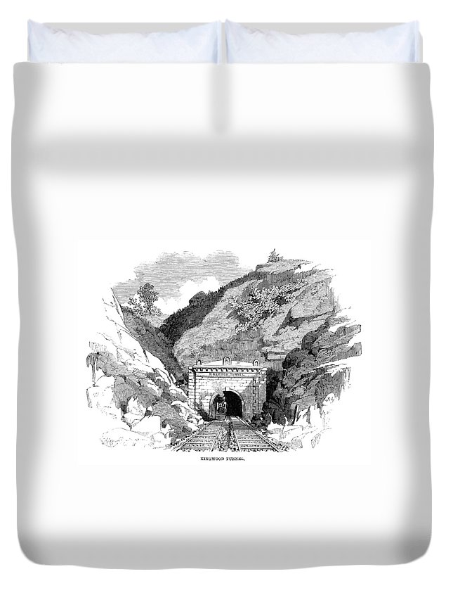1861 Duvet Cover featuring the painting Baltimore & Ohio Railroad by Granger