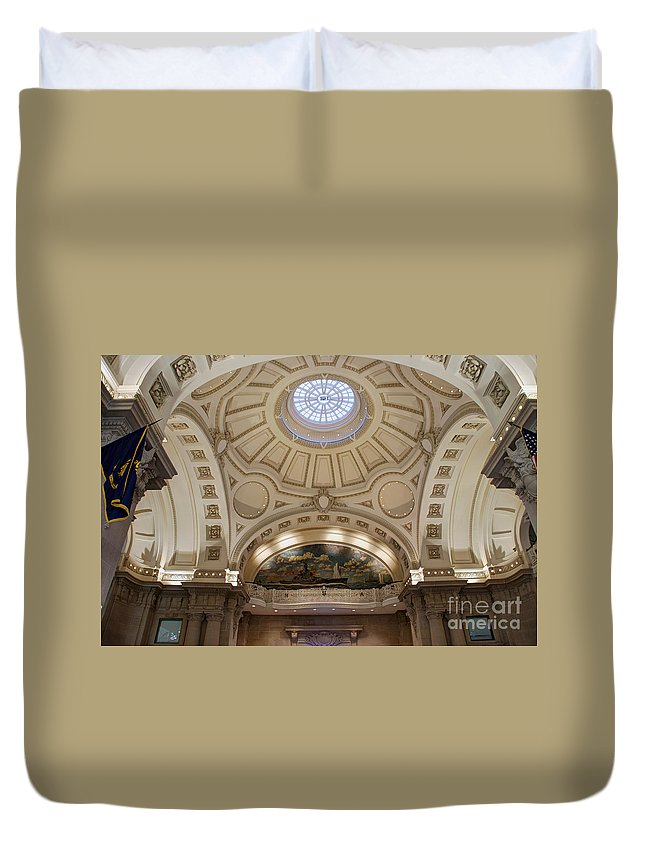 Academy Duvet Cover featuring the photograph Bancroft Hall by Mark Dodd