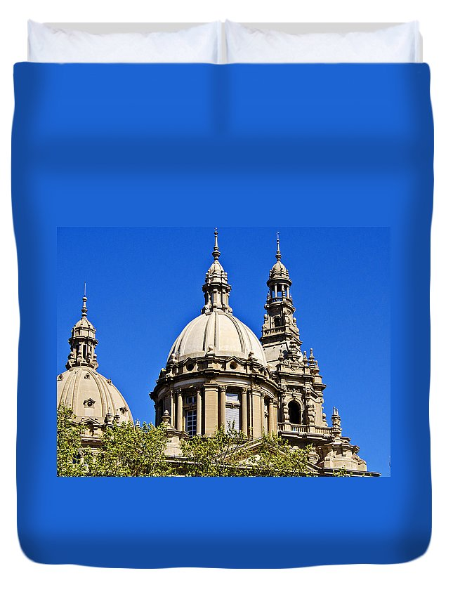 Barcelona Duvet Cover featuring the photograph Barcelona Architecture by Jon Berghoff