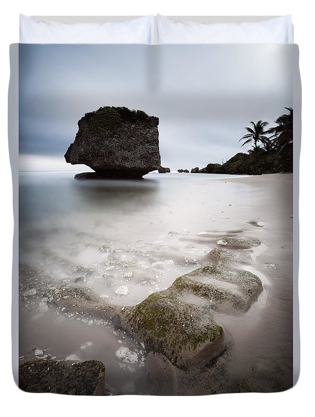 Landscape Duvet Cover featuring the photograph Bathsheba Beach - Barbados by Matteo Colombo