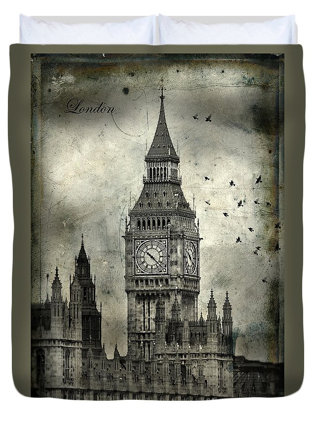 Big Ben Duvet Cover featuring the photograph Big Ben by Jill Battaglia