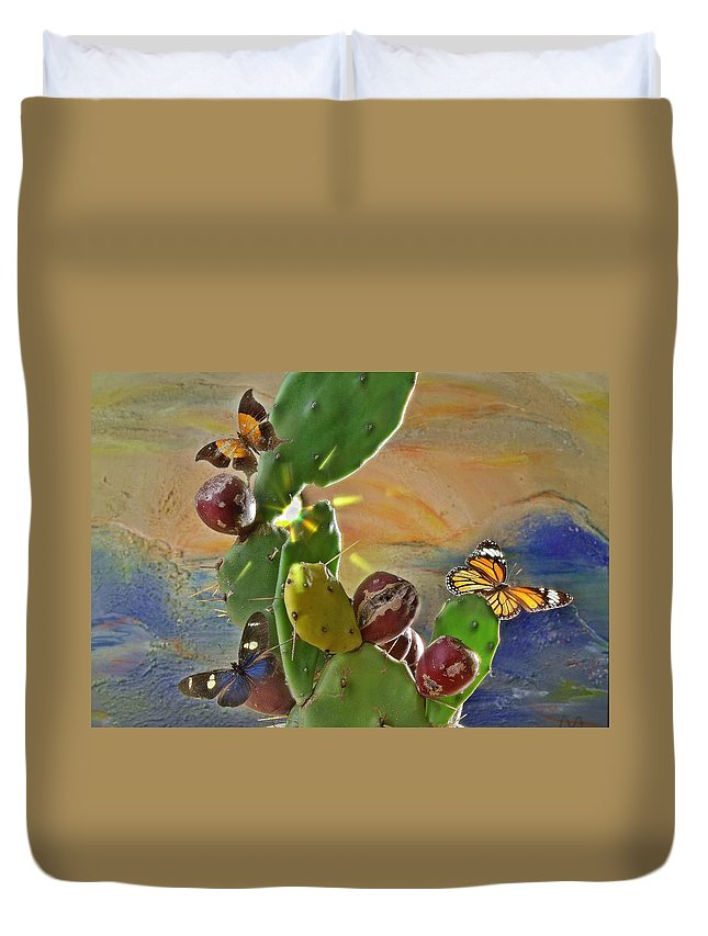 Butterfly Duvet Cover featuring the photograph Butterfly by Manfred Lutzius
