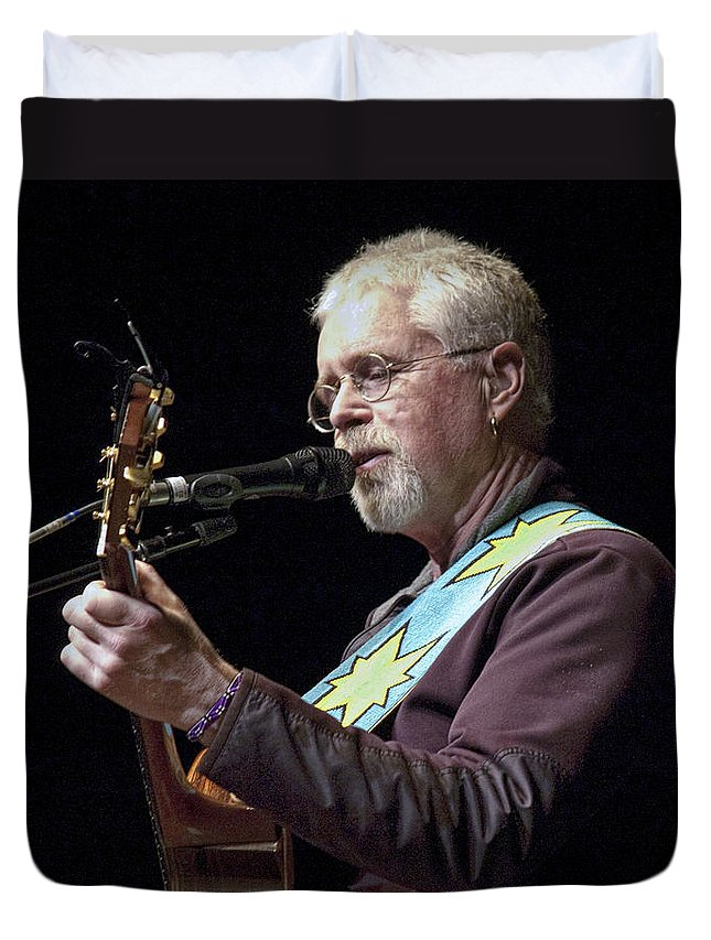 Art Duvet Cover featuring the photograph Canadian Folk Rocker Bruce Cockburn by Randall Nyhof