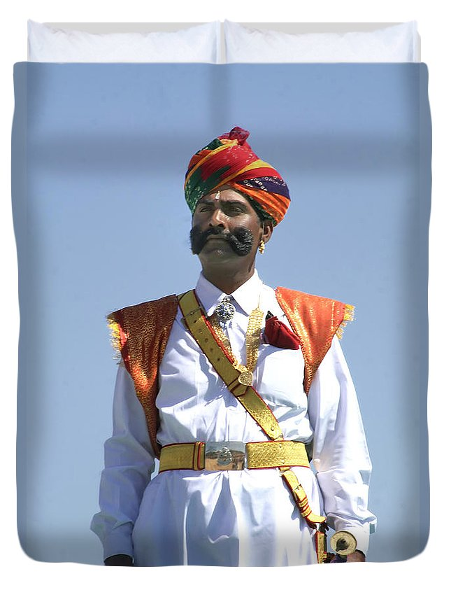 India Duvet Cover featuring the photograph Captain Marvel.. by A Rey
