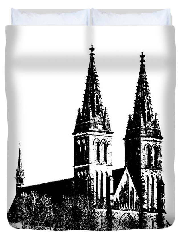 Church Duvet Cover featuring the mixed media Chapter Church Of St Peter And Paul by Michal Boubin