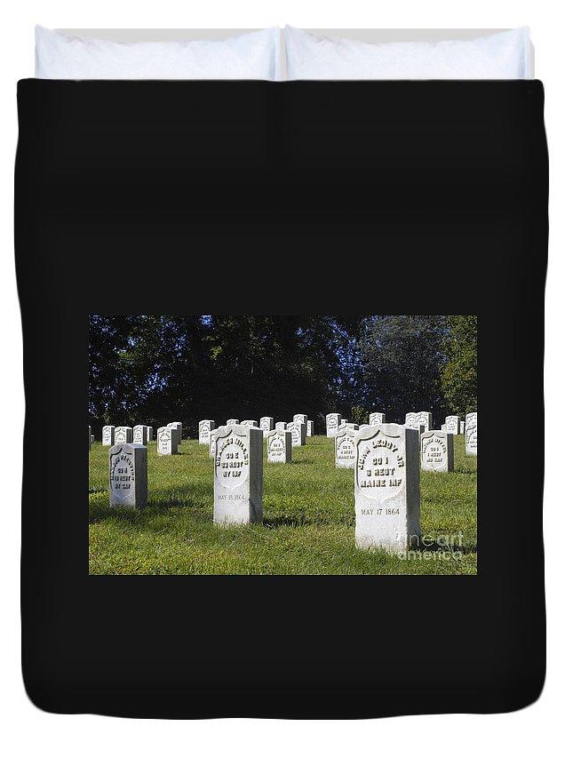 Arlington Duvet Cover featuring the photograph Civil War Dead At Arlington by Paul W Faust - Impressions of Light