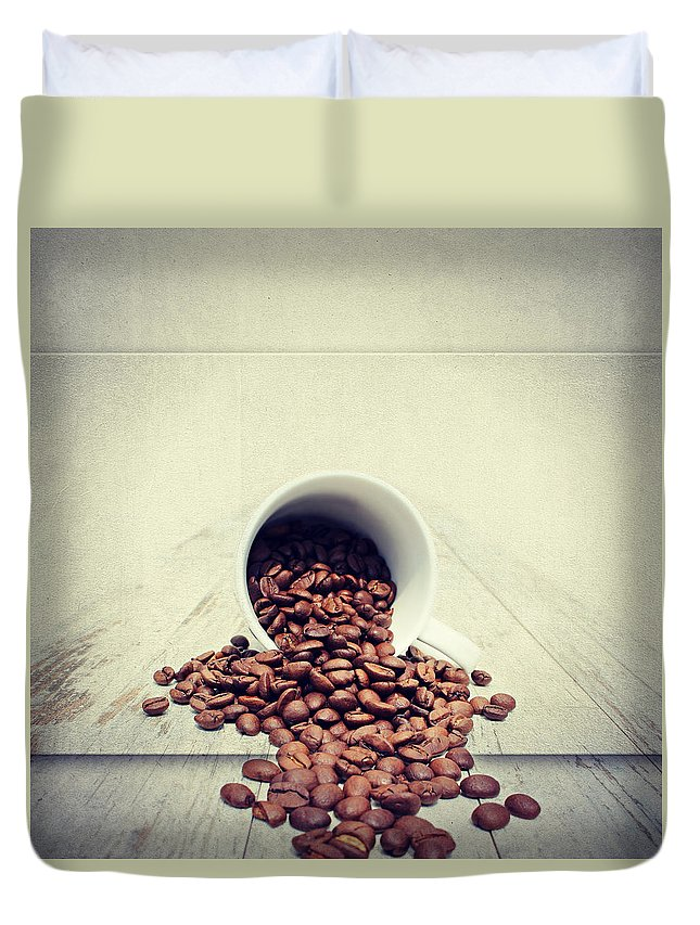 Coffee Duvet Cover featuring the photograph Coffee Time by Heike Hultsch