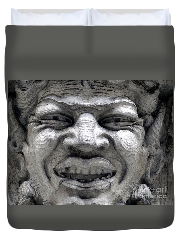 Ansonia Duvet Cover featuring the photograph Devilish Smile by Ed Weidman