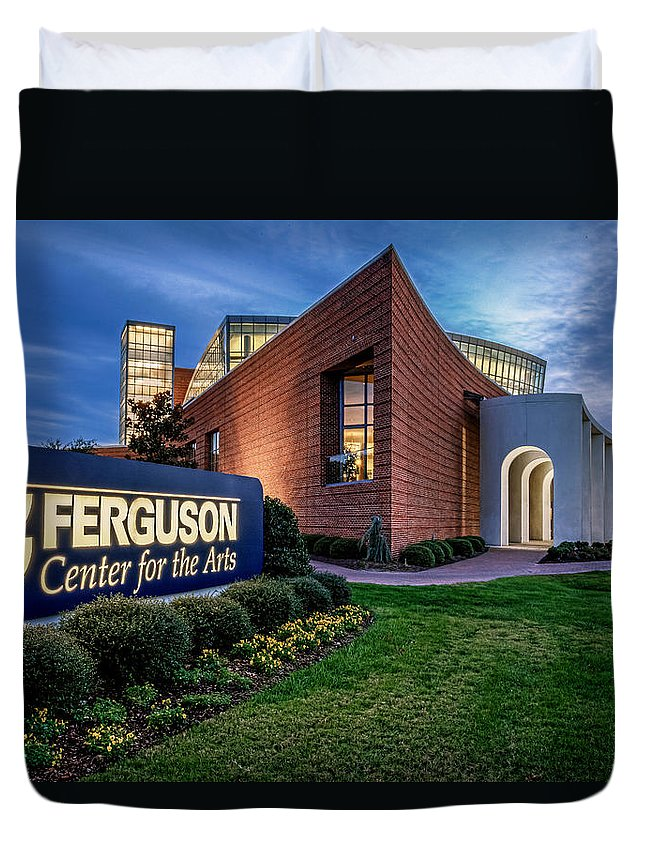 Cnu Duvet Cover featuring the photograph Ferguson Center For The Arts by Jerry Gammon