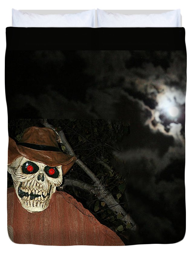 Fright Night Duvet Cover featuring the photograph Fright Night 1 by Ellen Henneke