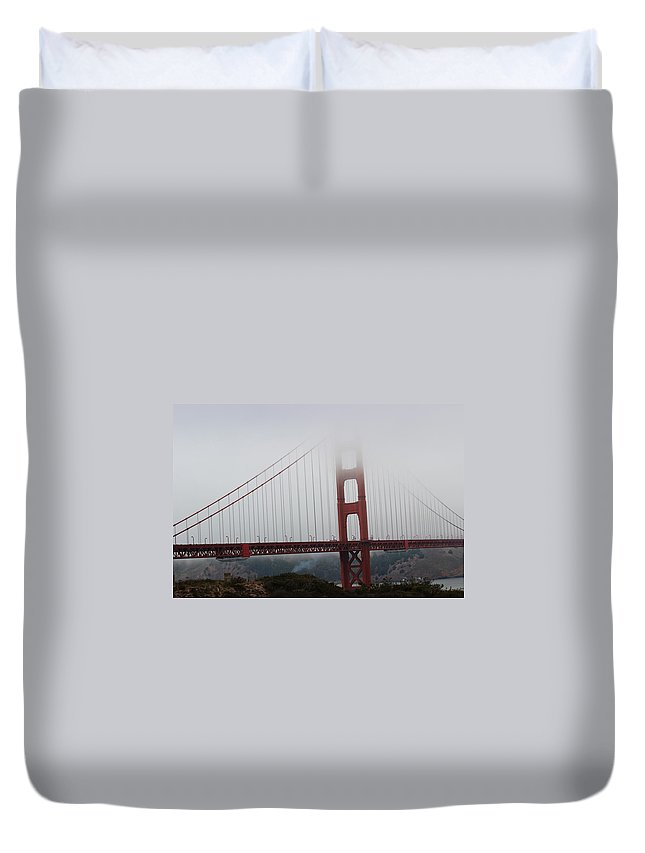 Golden Gate Bridge Duvet Cover featuring the photograph Golden Gate Bridge by Becca Buecher