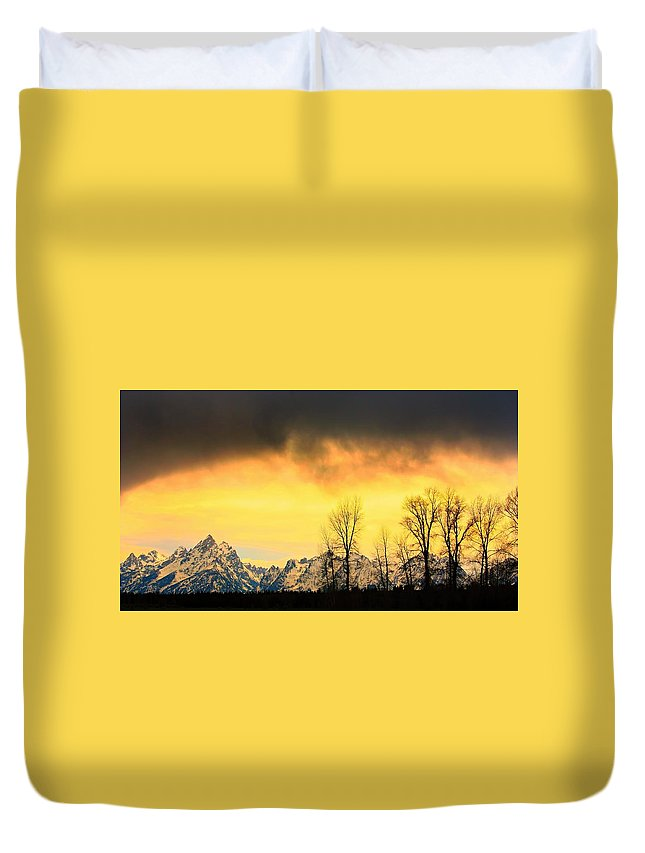 Grand Teton National Park Duvet Cover featuring the photograph Grand Tetons Wyoming by Amanda Stadther