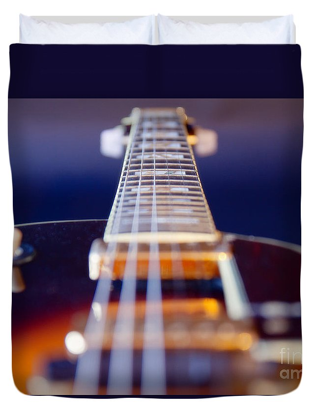 Abstract Duvet Cover featuring the photograph Guitar by Stelios Kleanthous