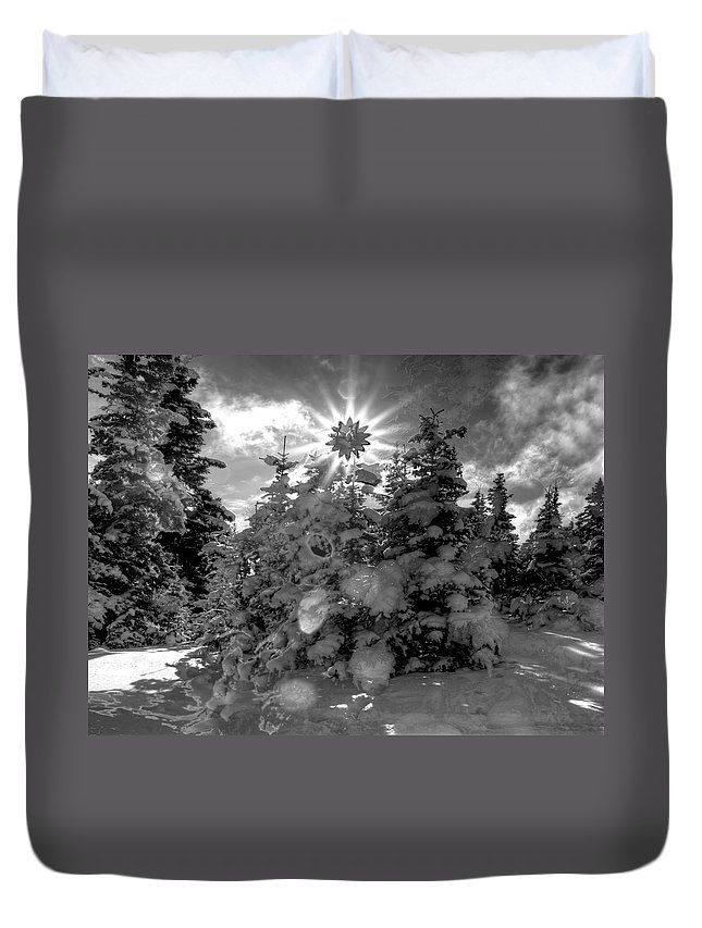 Alaska Duvet Cover featuring the photograph Here Comes The Sun by Michele Cornelius