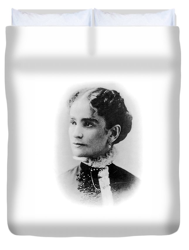19th Century Duvet Cover featuring the photograph Ida Mckinley (1847-1907) by Granger