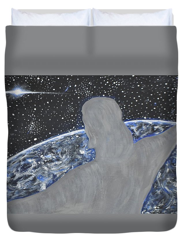 Lord Duvet Cover featuring the painting Lord by Irina Astley