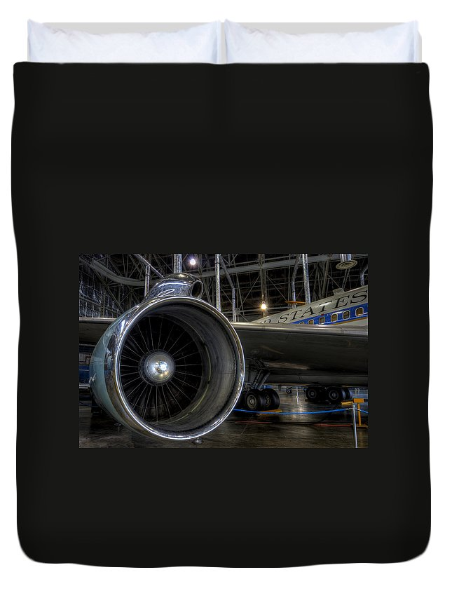 Air Force One Duvet Cover featuring the photograph Jfk Air Force One by David Dufresne