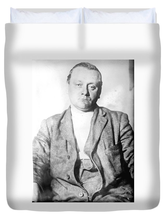 1912 Duvet Cover featuring the photograph John Flammang Schrank (1876-1943) by Granger