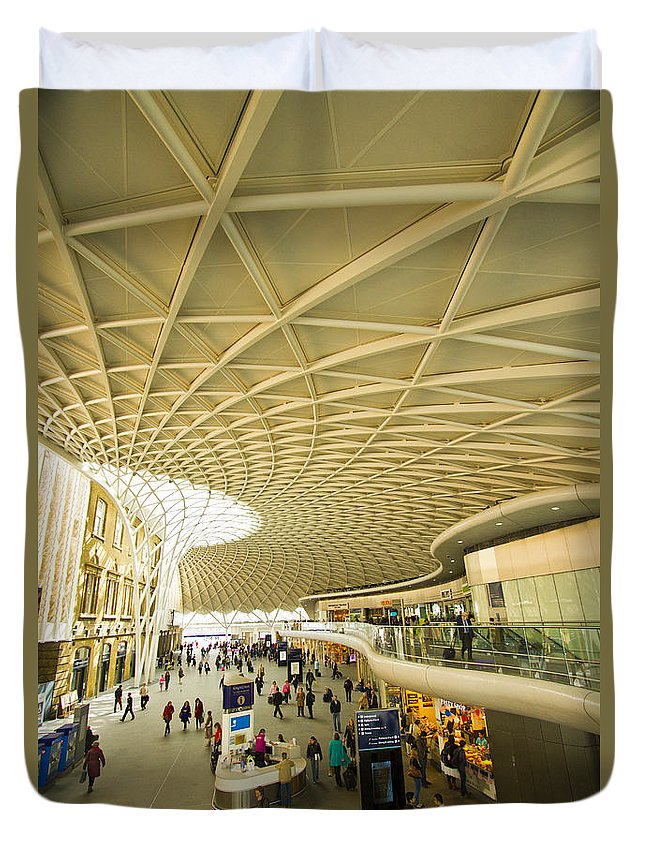 Stations Duvet Cover featuring the photograph Kings Cross Railway Station London by David French