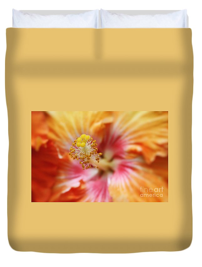 Aloha Duvet Cover featuring the photograph Ko Aloha Makamae E Ipo Aloalo Exotic Tropical Hibiscus Maui Hawaii by Sharon Mau