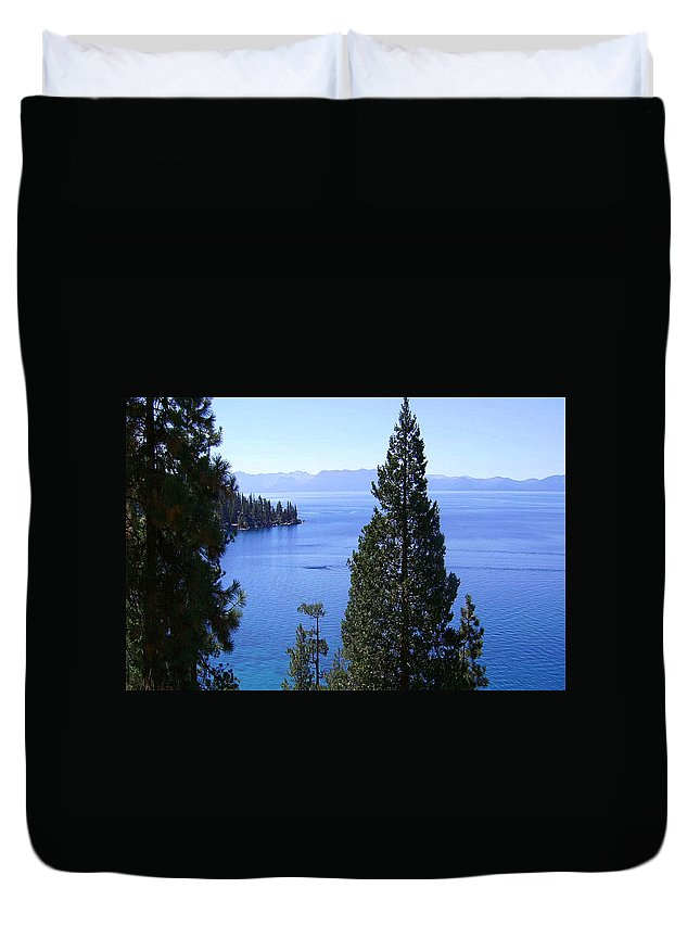 California Duvet Cover featuring the photograph Lake Tahoe 4 by J D Owen