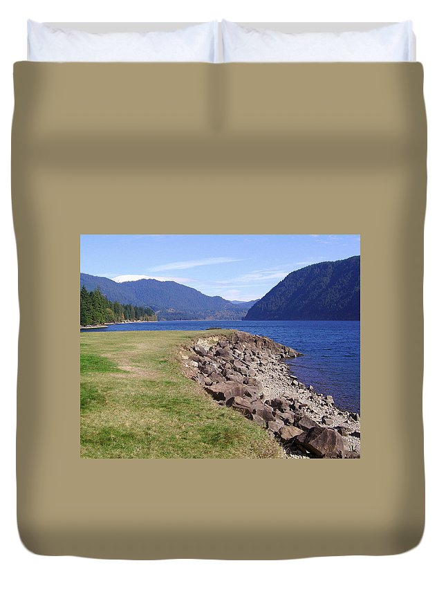 Bloom Duvet Cover featuring the photograph Lakes 3 by J D Owen