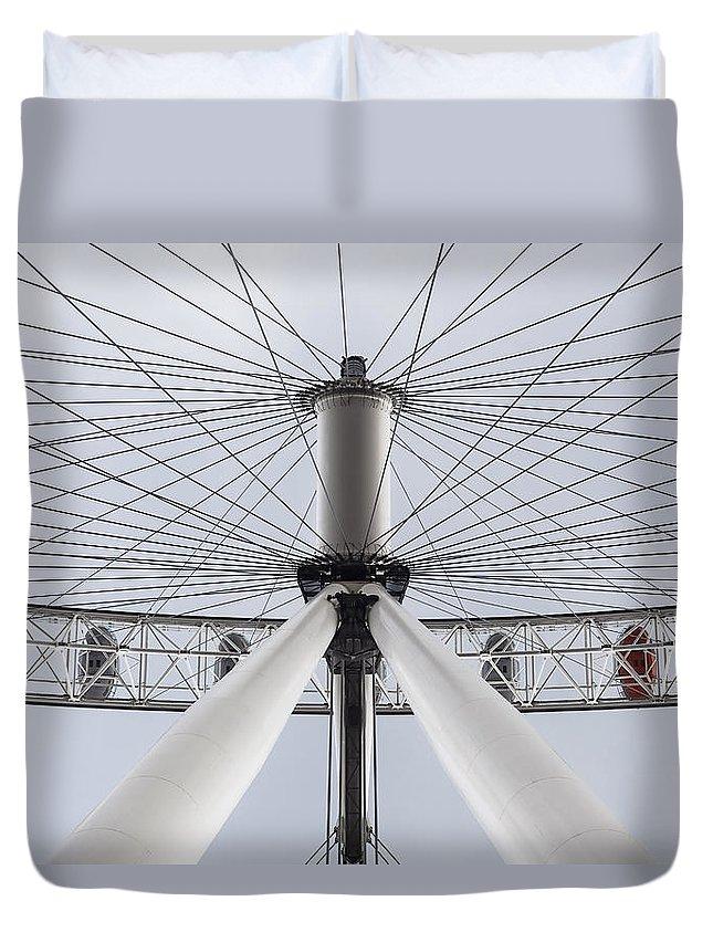 London Duvet Cover featuring the photograph London Eye by Alfio Finocchiaro