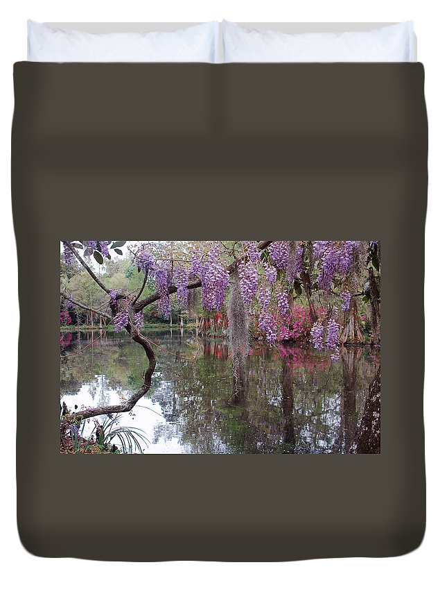 Wisteria Duvet Cover featuring the photograph Magnolia Plantation Gardens Series II by Suzanne Gaff