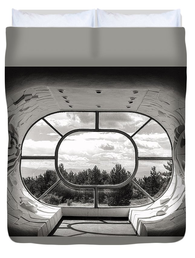 Arcitecture Duvet Cover featuring the photograph Makedonium Krusevo by For Ninety One Days