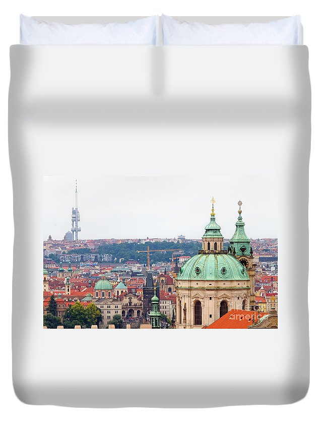 Architecture Duvet Cover featuring the photograph Mala Strana In Prague by Michal Bednarek