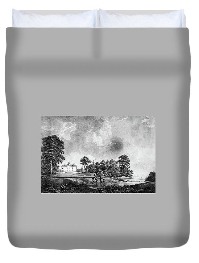 1798 Duvet Cover featuring the painting Mount Vernon, 1798 by Granger