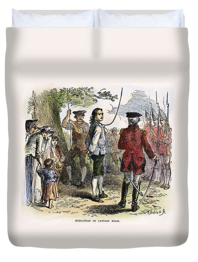 1776 Duvet Cover featuring the photograph Nathan Hale (1755-1776) by Granger