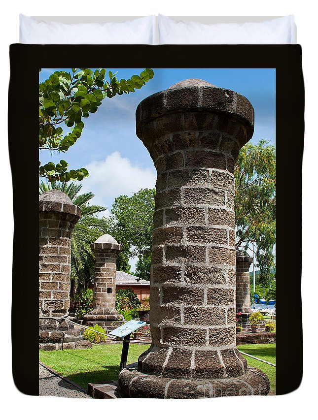 Nelson Duvet Cover featuring the photograph Nelson's Dockyard In Antigua by Luis Alvarenga