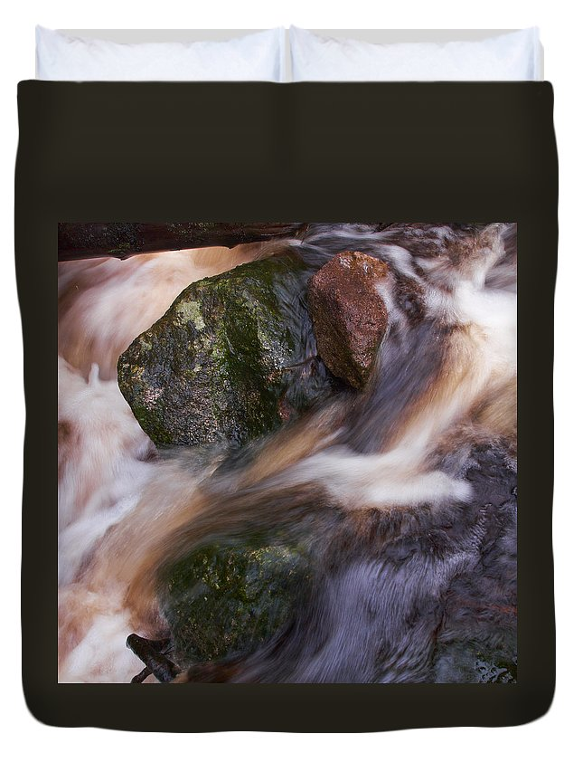 Liesijoki Duvet Cover featuring the photograph Old Mill Canal by Jouko Lehto