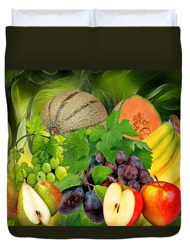 Fruit Duvet Cover featuring the photograph Orchard by Manfred Lutzius